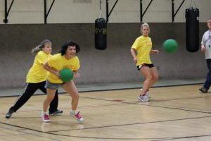 IBMC College sponsors a dodgeball team.