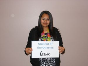 Student in the medical assisting program at IBMC college in Greeley