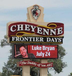 Cheyenne Frontier Days Luke Bryan concert tickets
