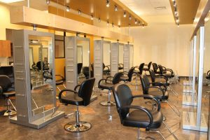 The new cosmetology suite features hairstyling, nail technician and an esthetician salon.