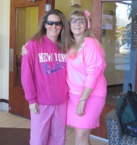 Longmont students don their pink gear in support of Breast Cancer Awareness Month.