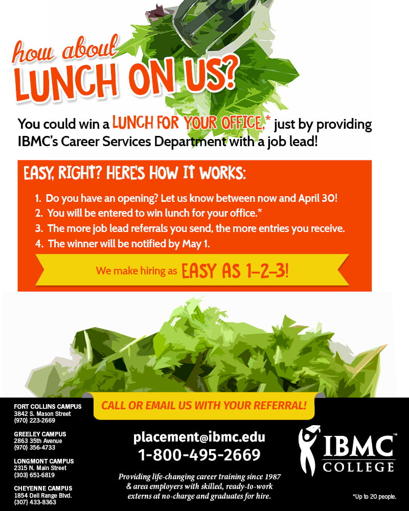 Earn a FREE lunch with your job referral!