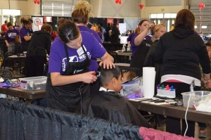 IBMC College cosmetology students provided free haircuts to Weld County residents during the 2015 Weld Project Connect.