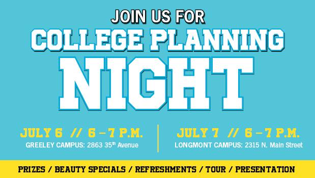 IBMC College Planning Night webpage
