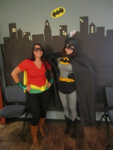 IBMC College students and staff participate at the 2013 Superhero Student Award Assembly at the Longmont campus.