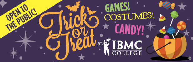 Come to IBMC College for a family-friendly Halloween Trick-or-Treating Event!